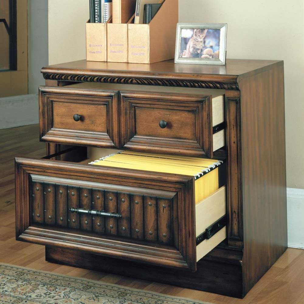 Esspresso Base Antique Filing Cabinets Design