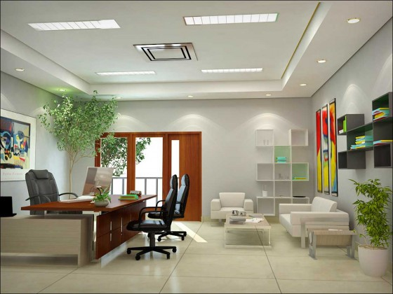 Natural Modern Home Office Furniture Design