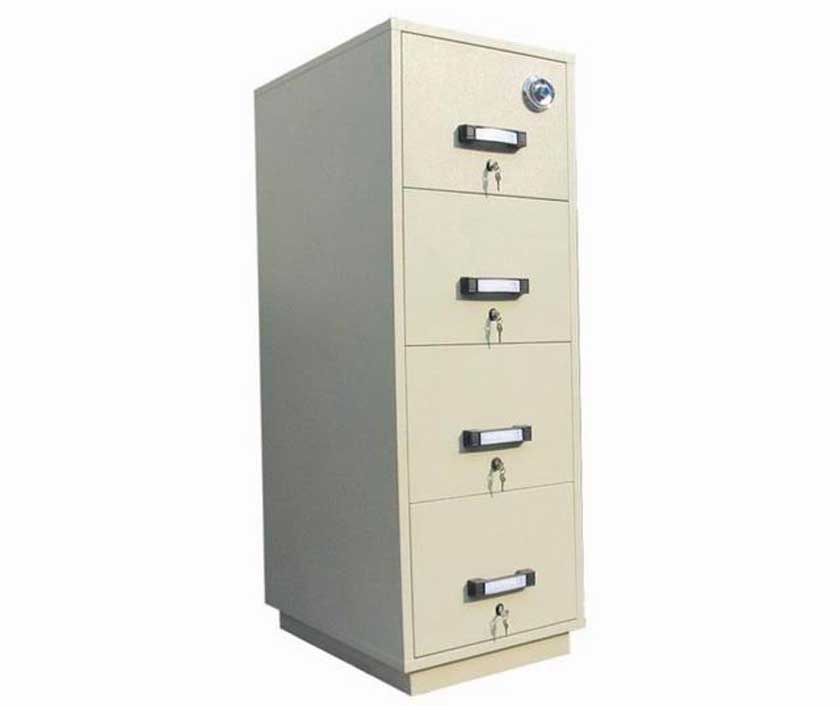 Vertical Metal Second Hand Filing Cabinets with lock
