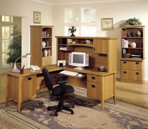 Wooden Modern Home Office Furniture Collection