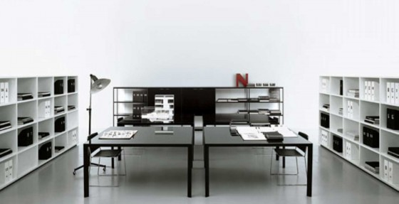 black and white modern office furniture