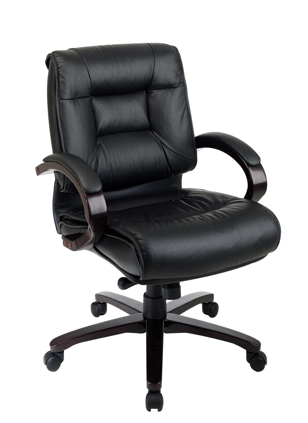 black leather comfortable office chair