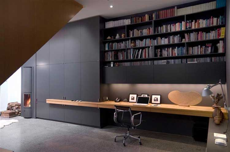 black office wall cabinets unit