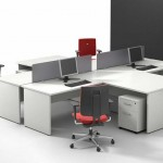 compact minimalist built in office desk designs