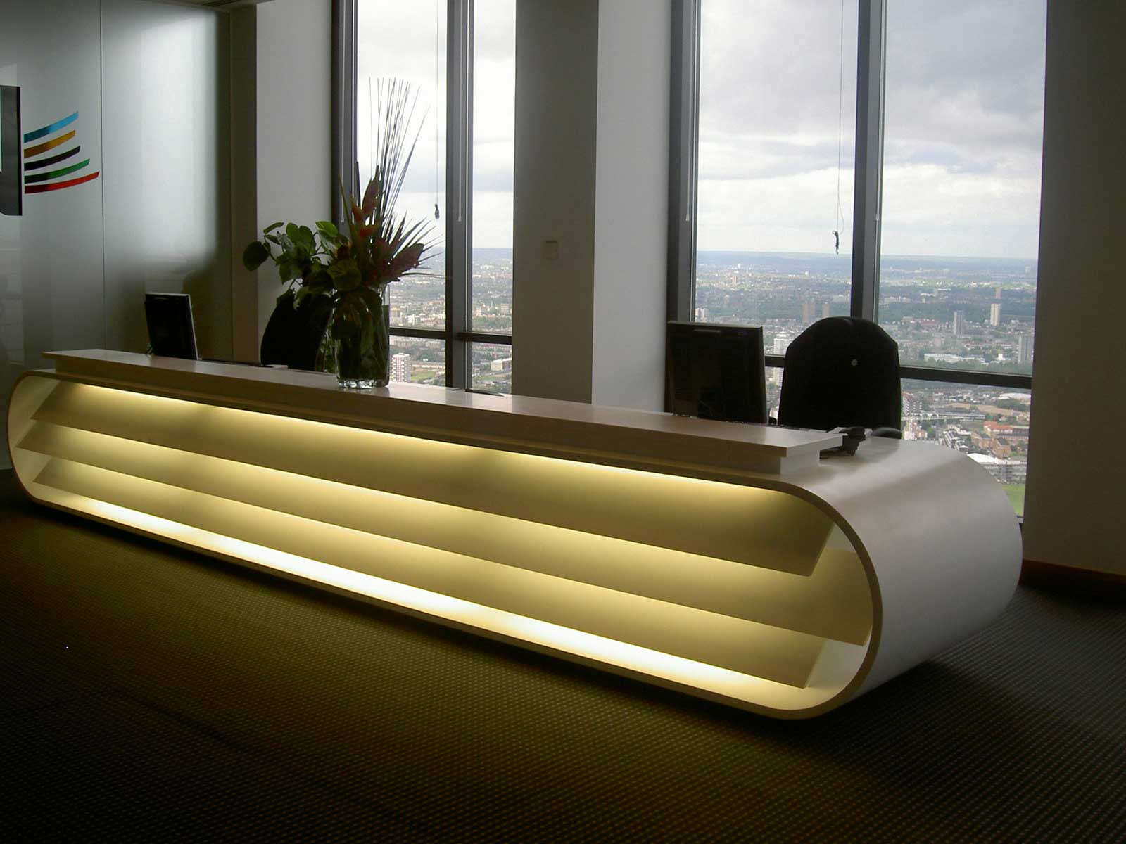contemporary office furniture for reception area