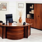 executive built in home office desk designs and bookshelf
