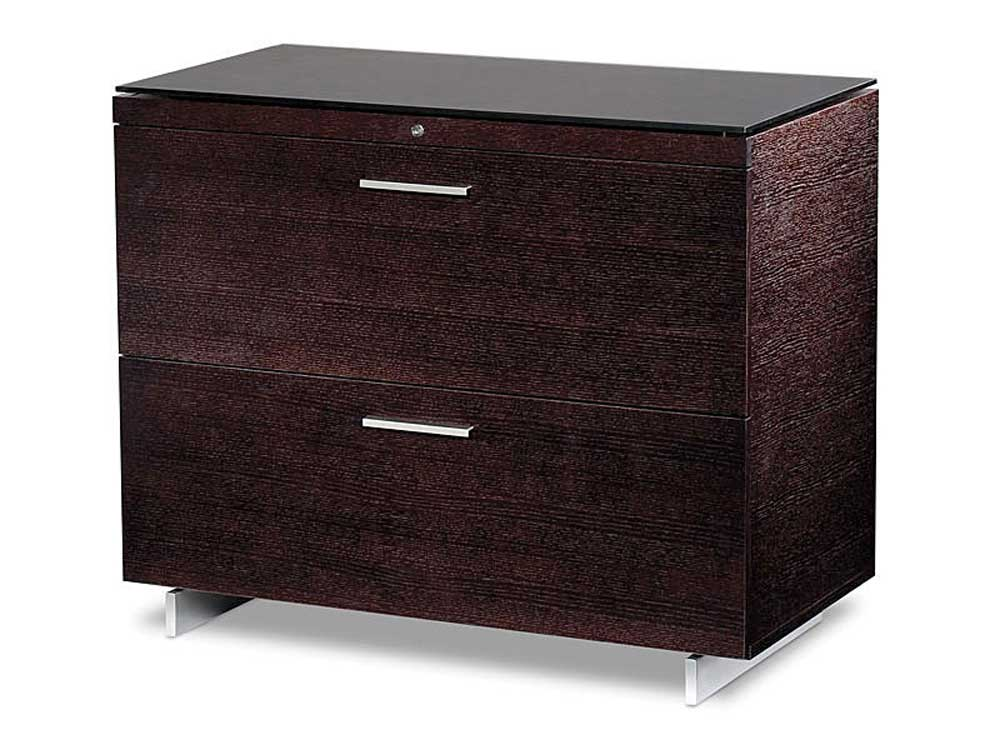 lateral wooden lockable file cabinet