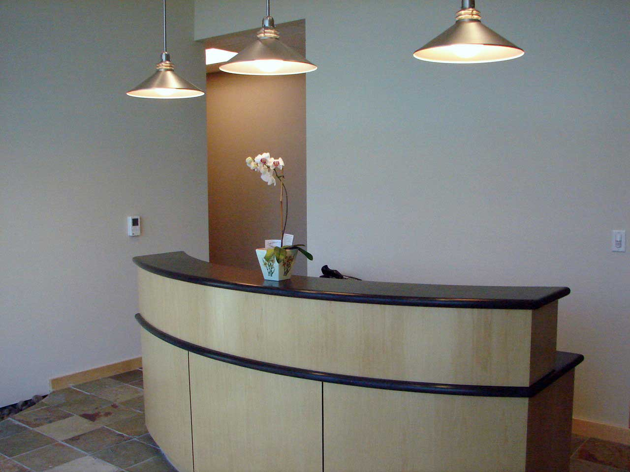 lobby small reception desk design