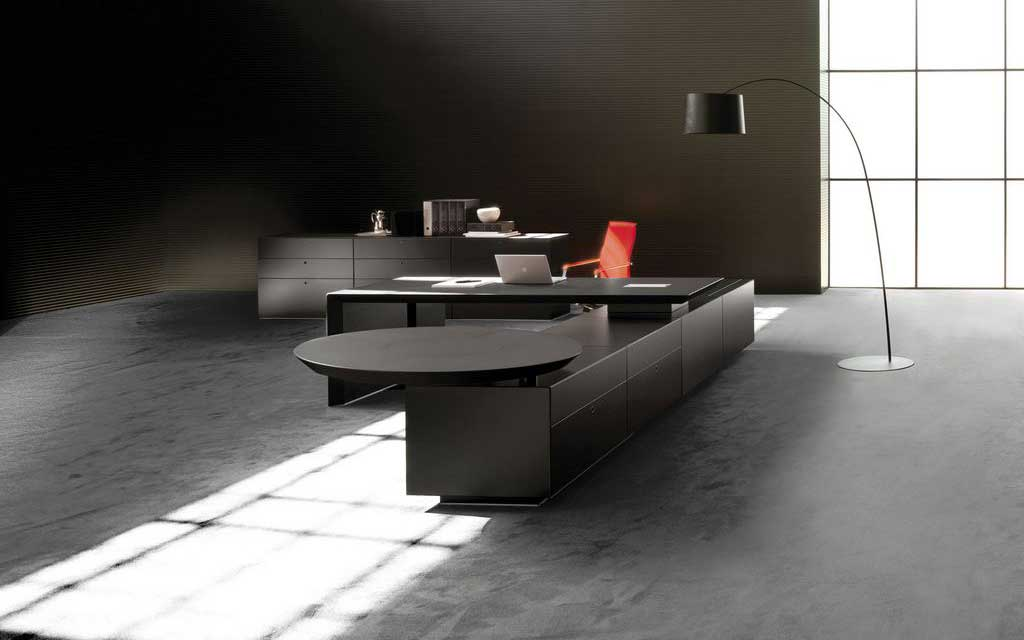 modern executive black office furniture design