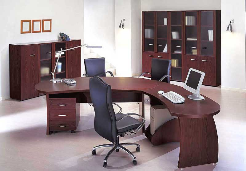 modern executive office computer table set