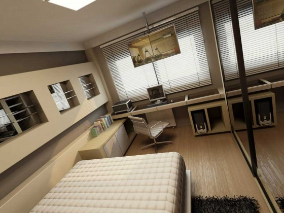 modern home office furniture layout