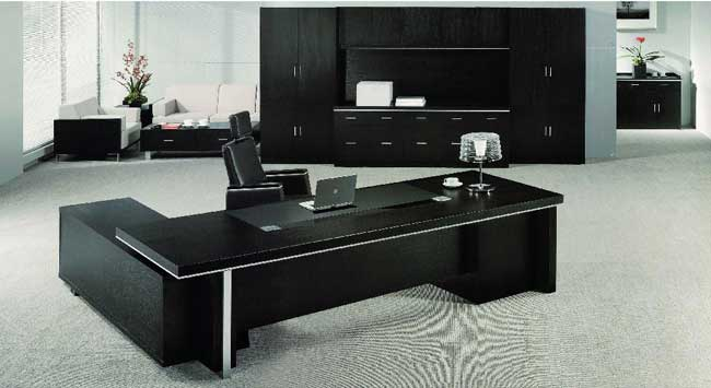 modern luxury black office furniture