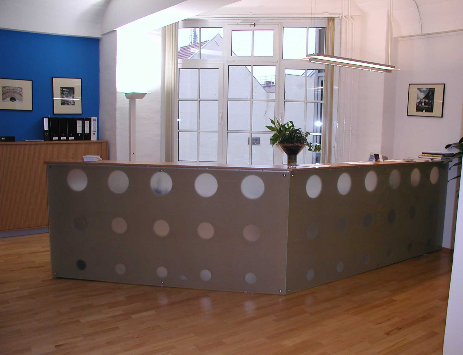 simple small modern reception desks