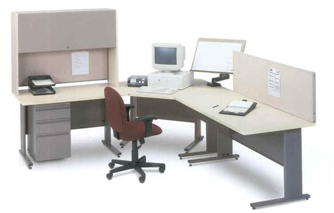 traditional wood and metal office furniture