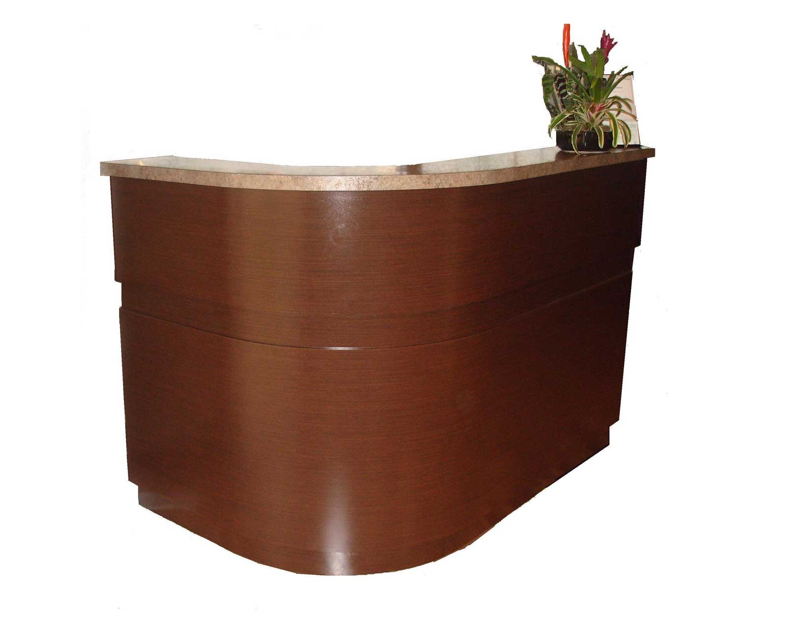 used L-Shaped reception desk
