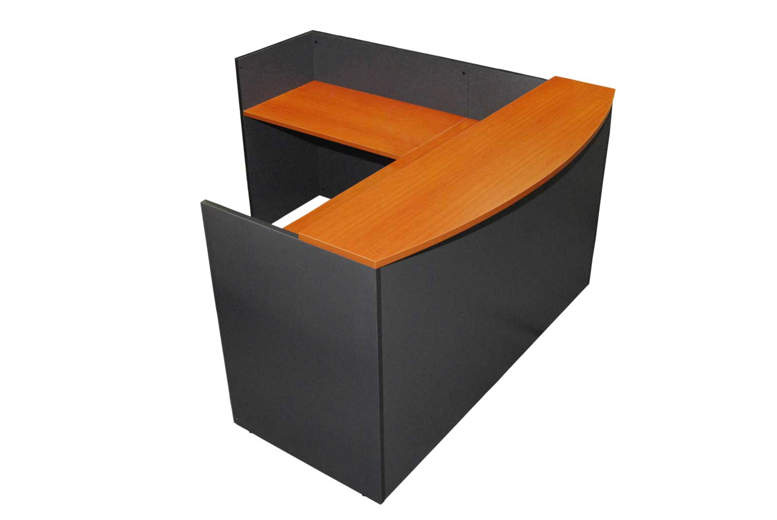 used reception desk black finish