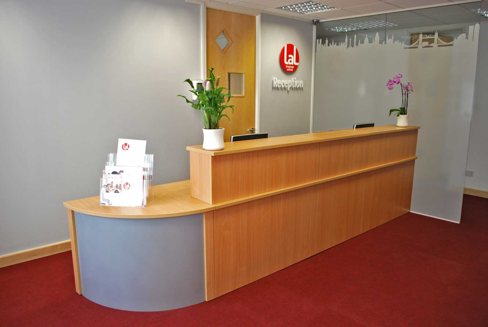 wooden modern executive reception desks
