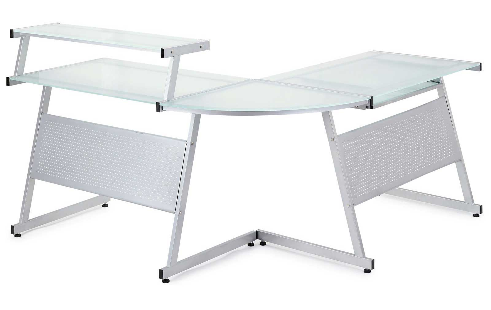 Acero Corner Desk with Solid Glass