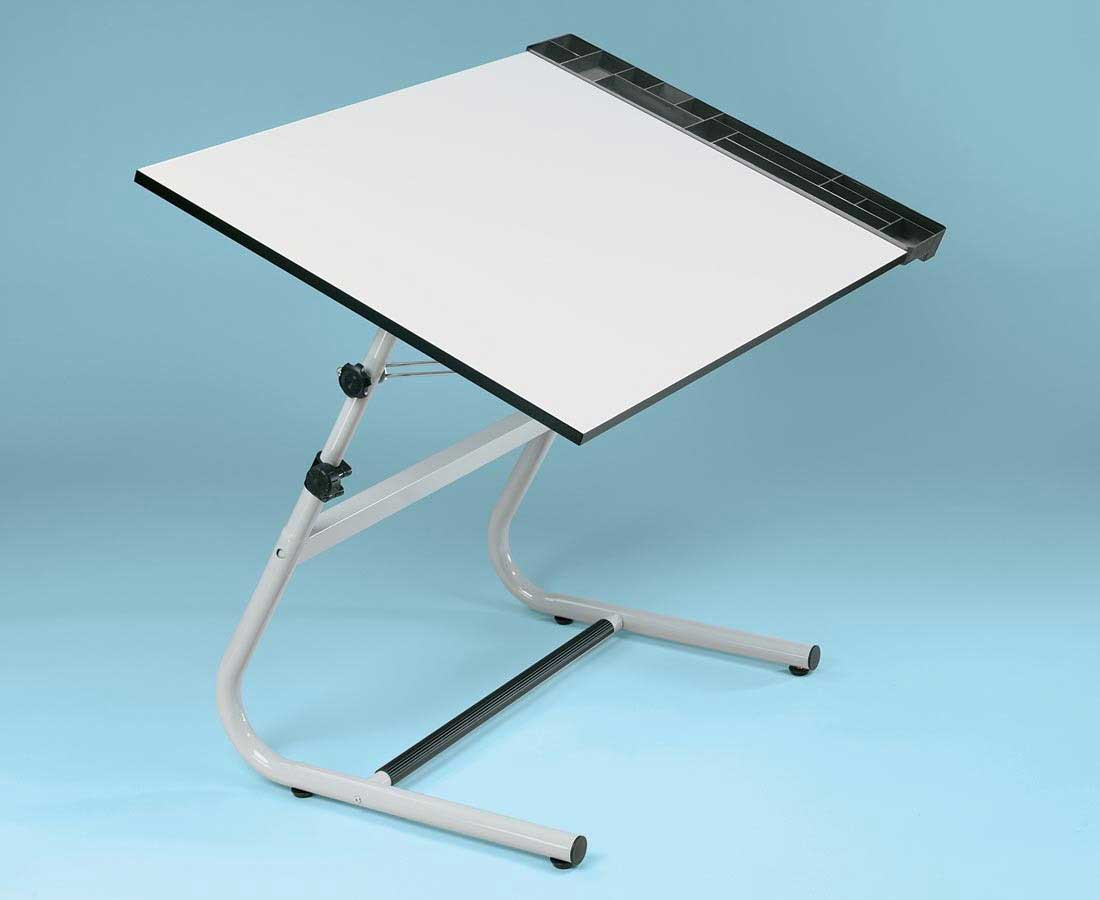 Alvin Vista White Folding Drawing Tables