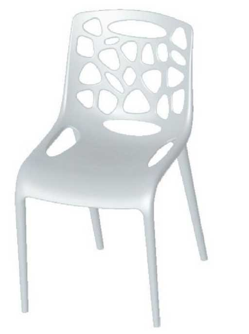 Artisan Retro White Metal Patio Chairs