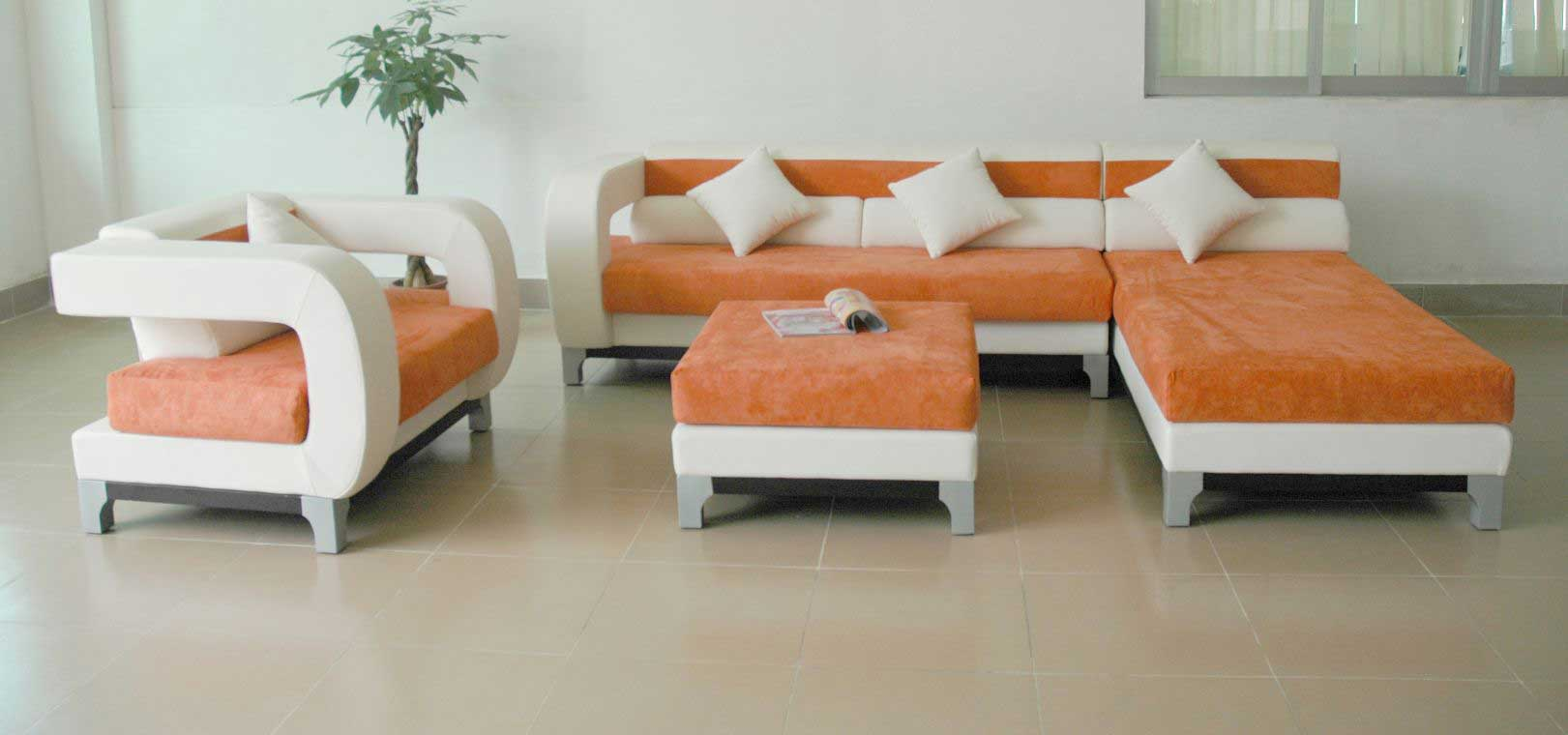 Avella modern microfiber and leather sectional seat