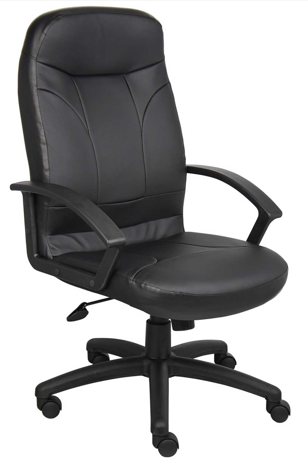BOSS High Back Black Leather Rotate Office Chair