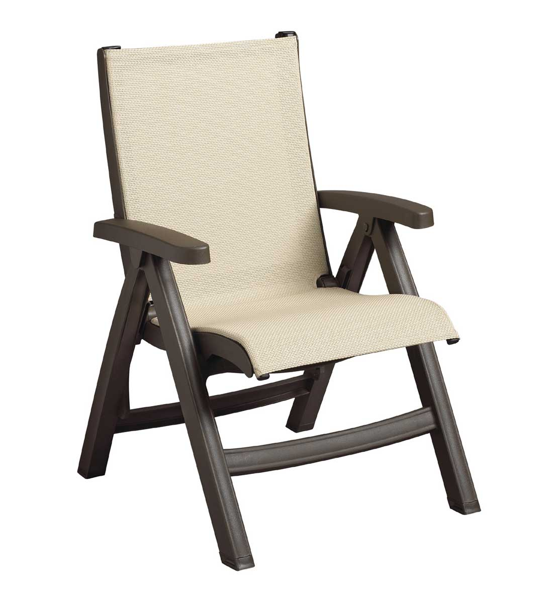 Belize Midback Resin Folding Patio Chairs