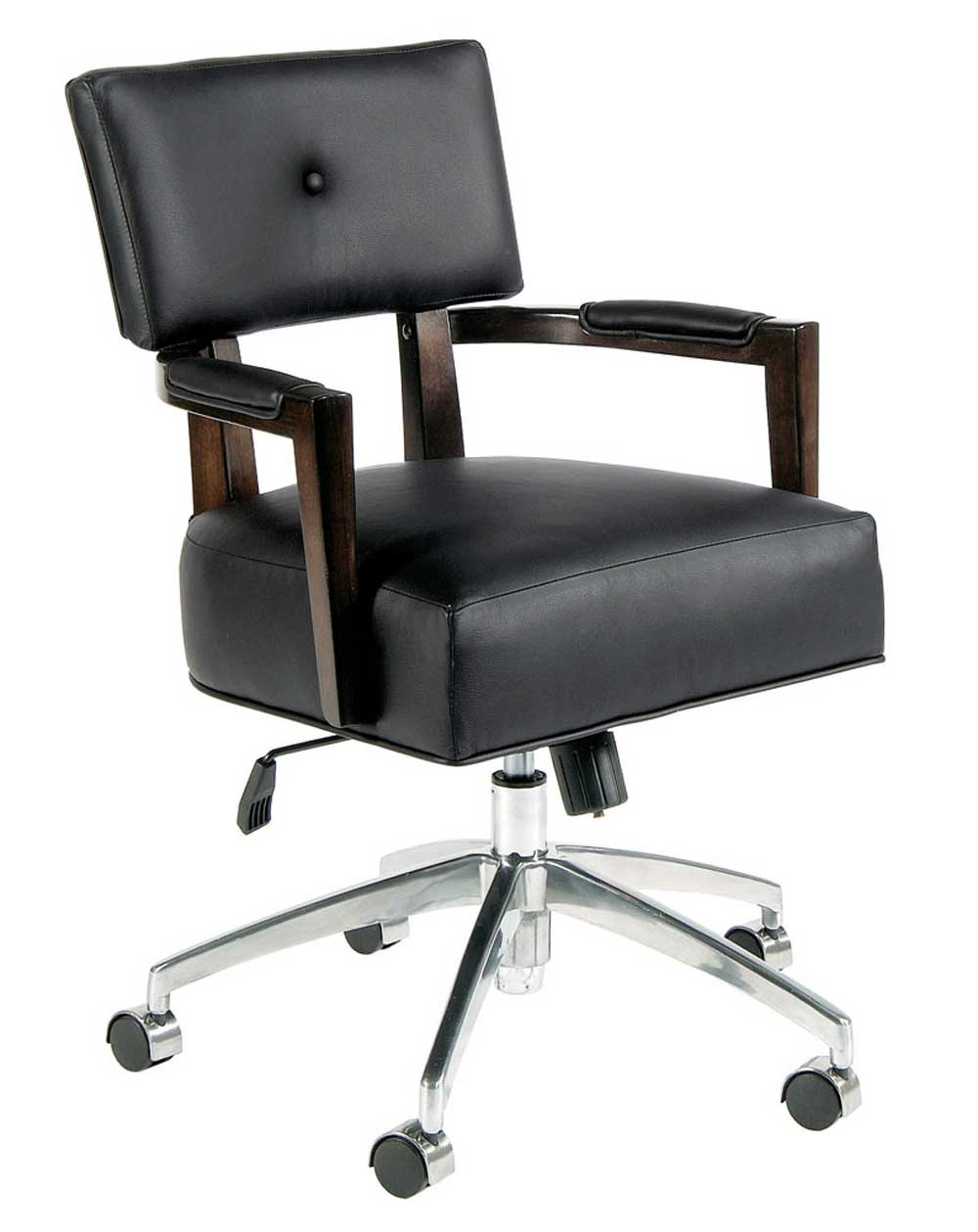 Bernhardt Wilshire Boulevard Solid Black Swivel Chair