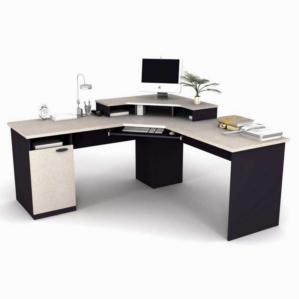 Bestar Stylish Contemporary Corner Office Computer Desk