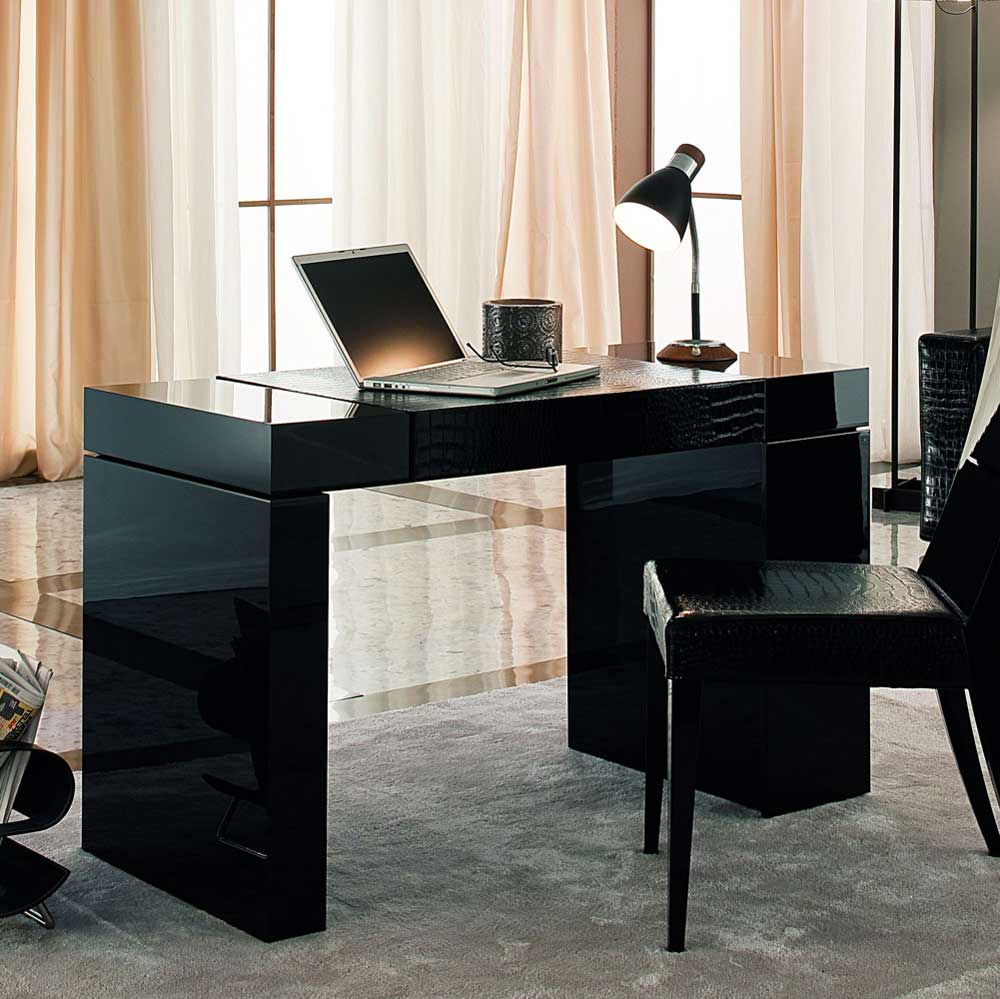 Black Home Office Chair and Desk from Rossetto Nightfly