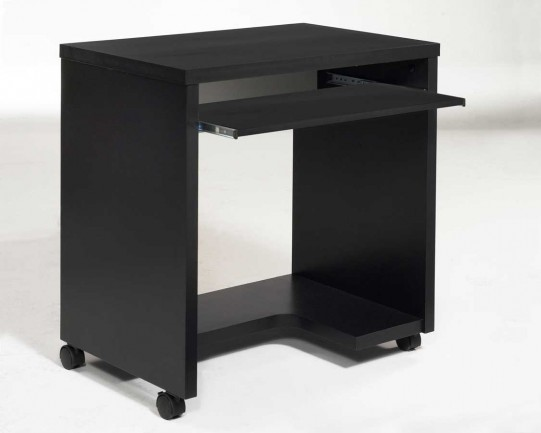 Black Mobile Computer Desk and Workstation