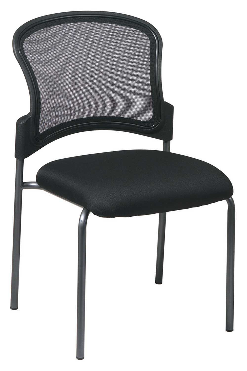 Black Stacking Office Reception Chair