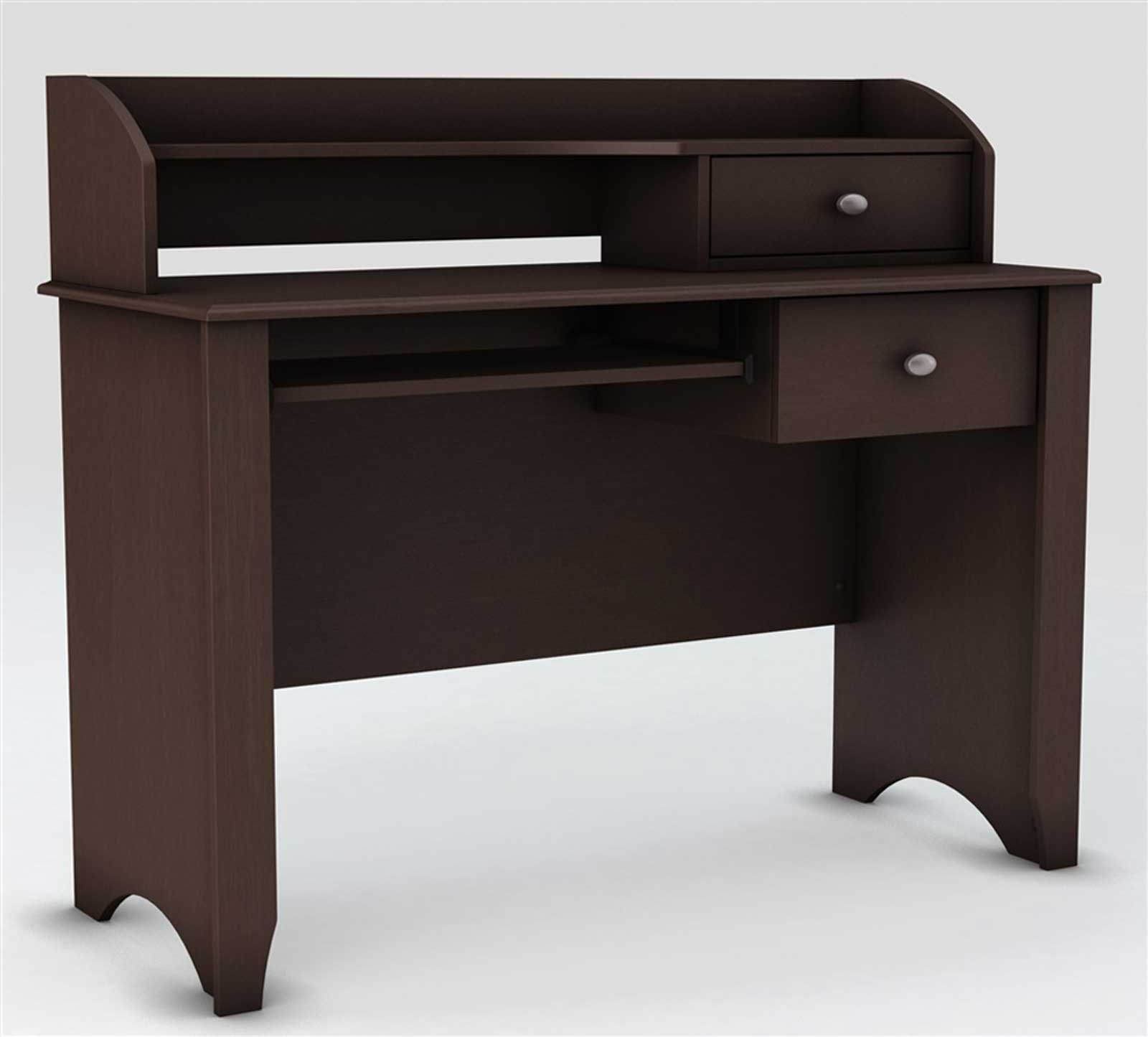 Brown Computer Secretary Desk with Drawer