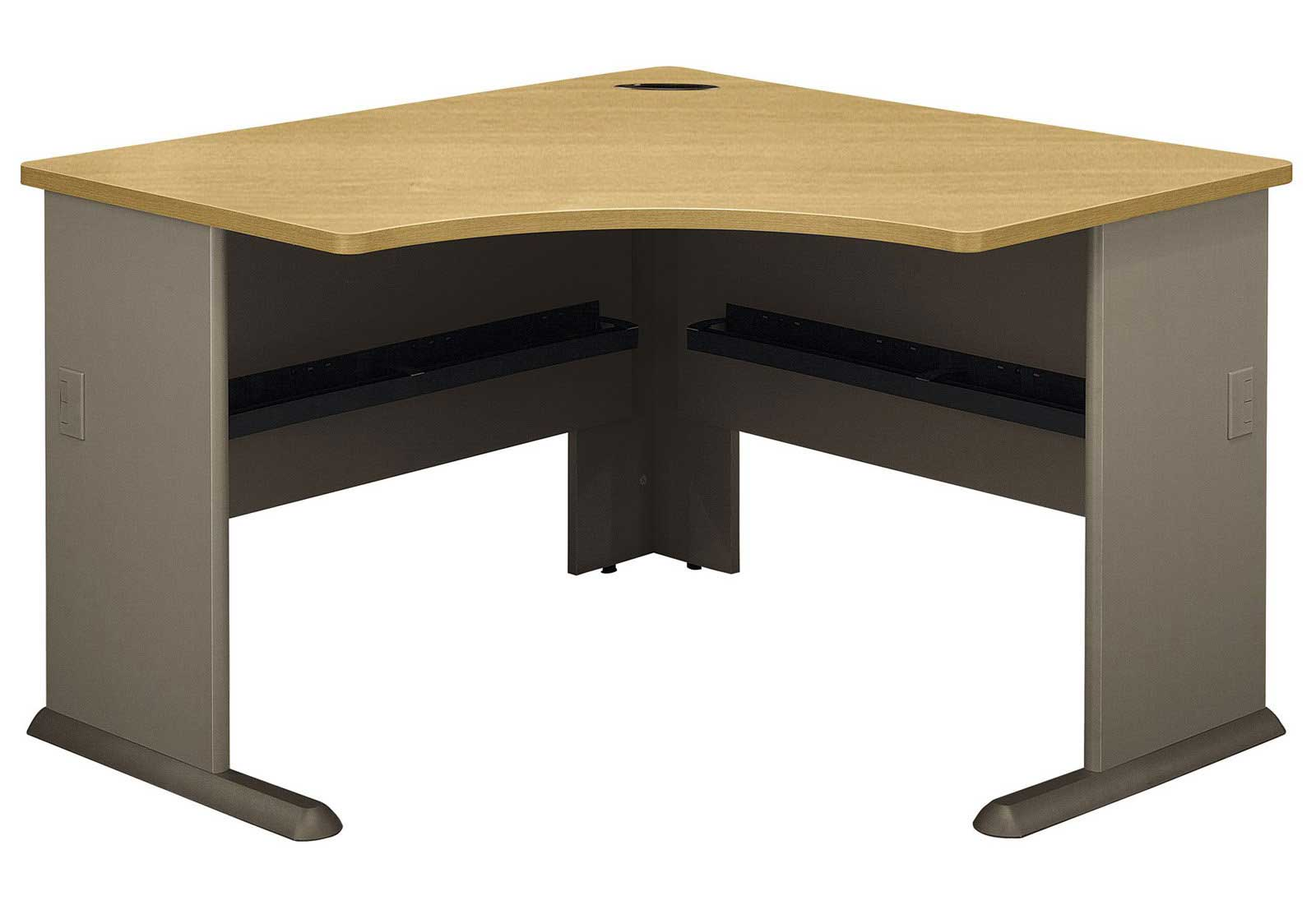 Bush A-Series Sage and Light Oak Corner Desk