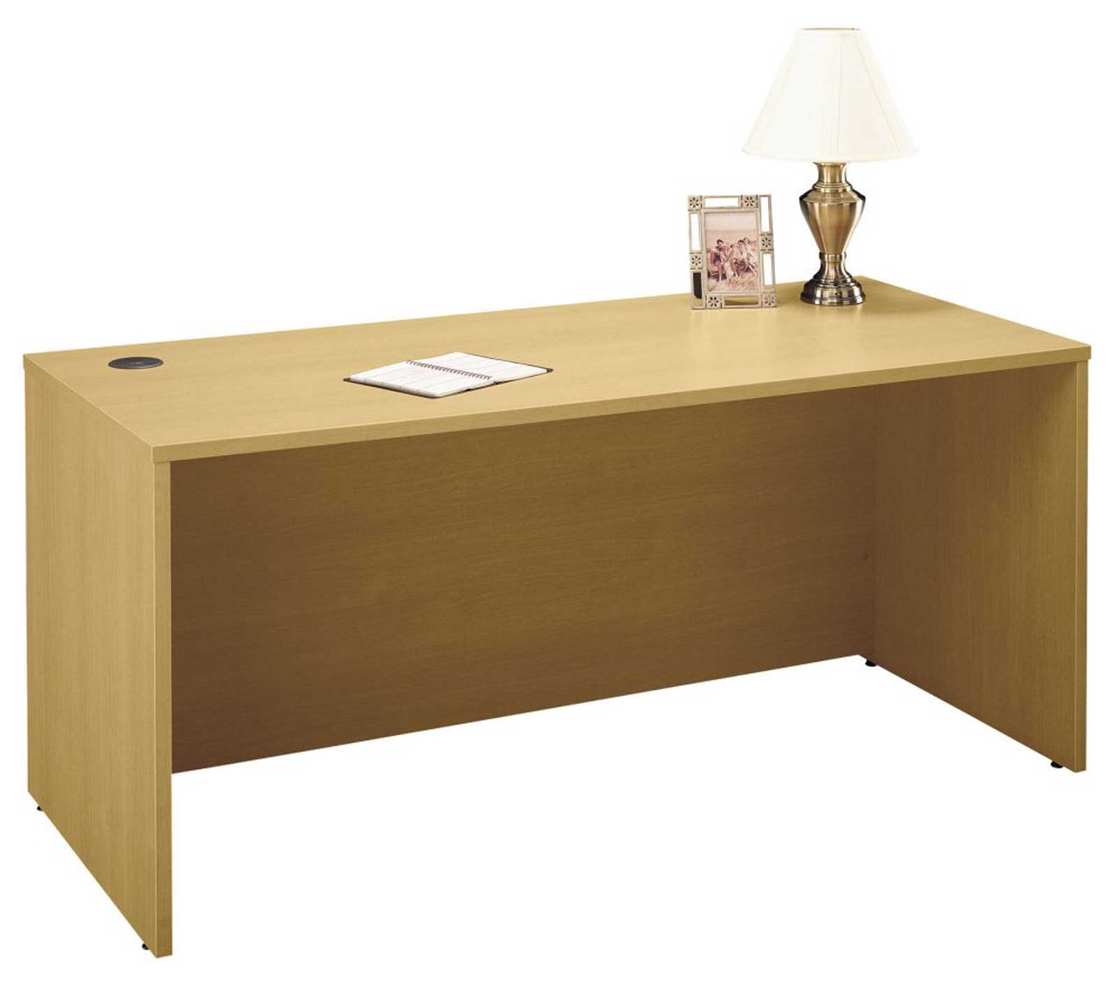 Bush C Series Light Weight Oak Desk Collection