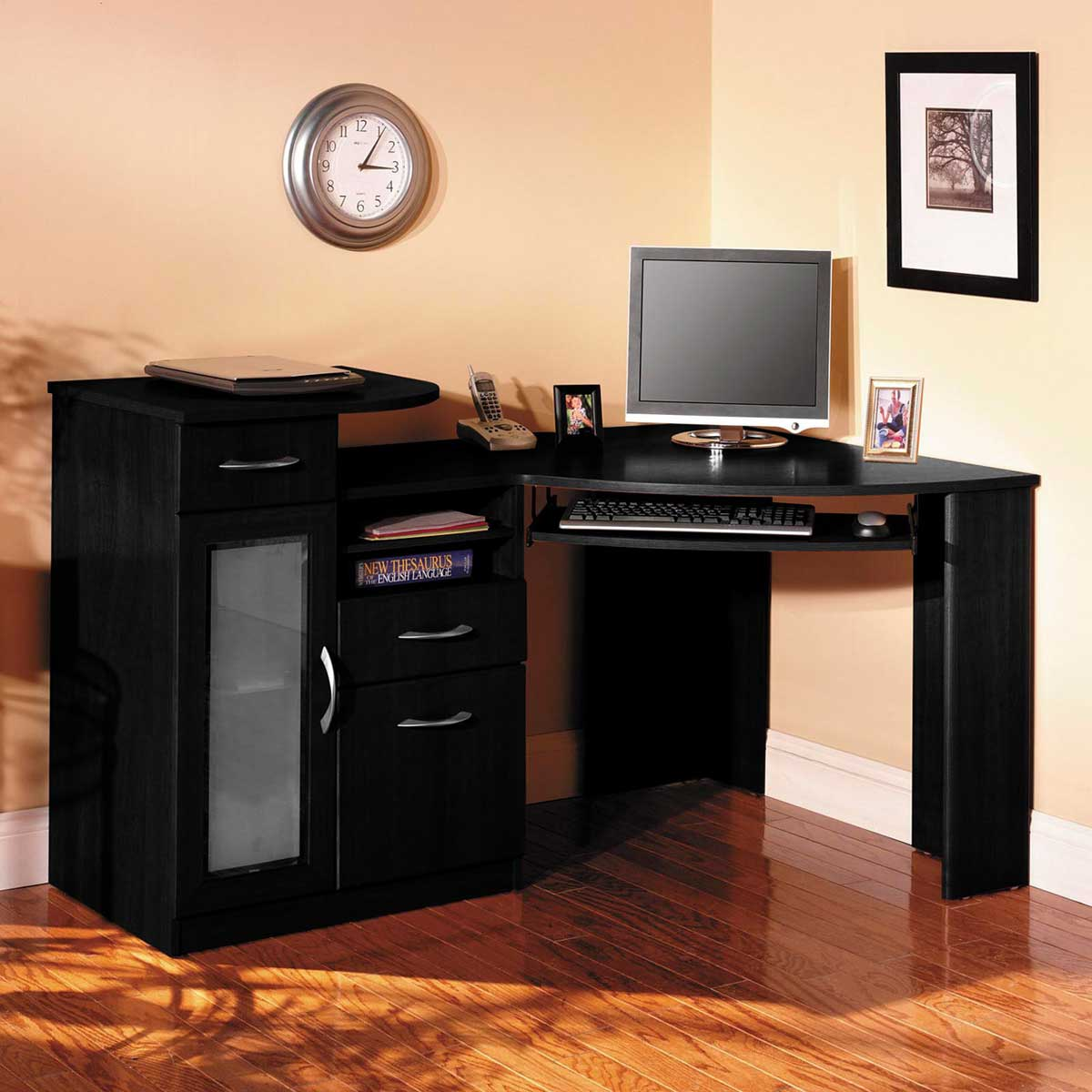 Bush Corner Computer Desk Vantage Black