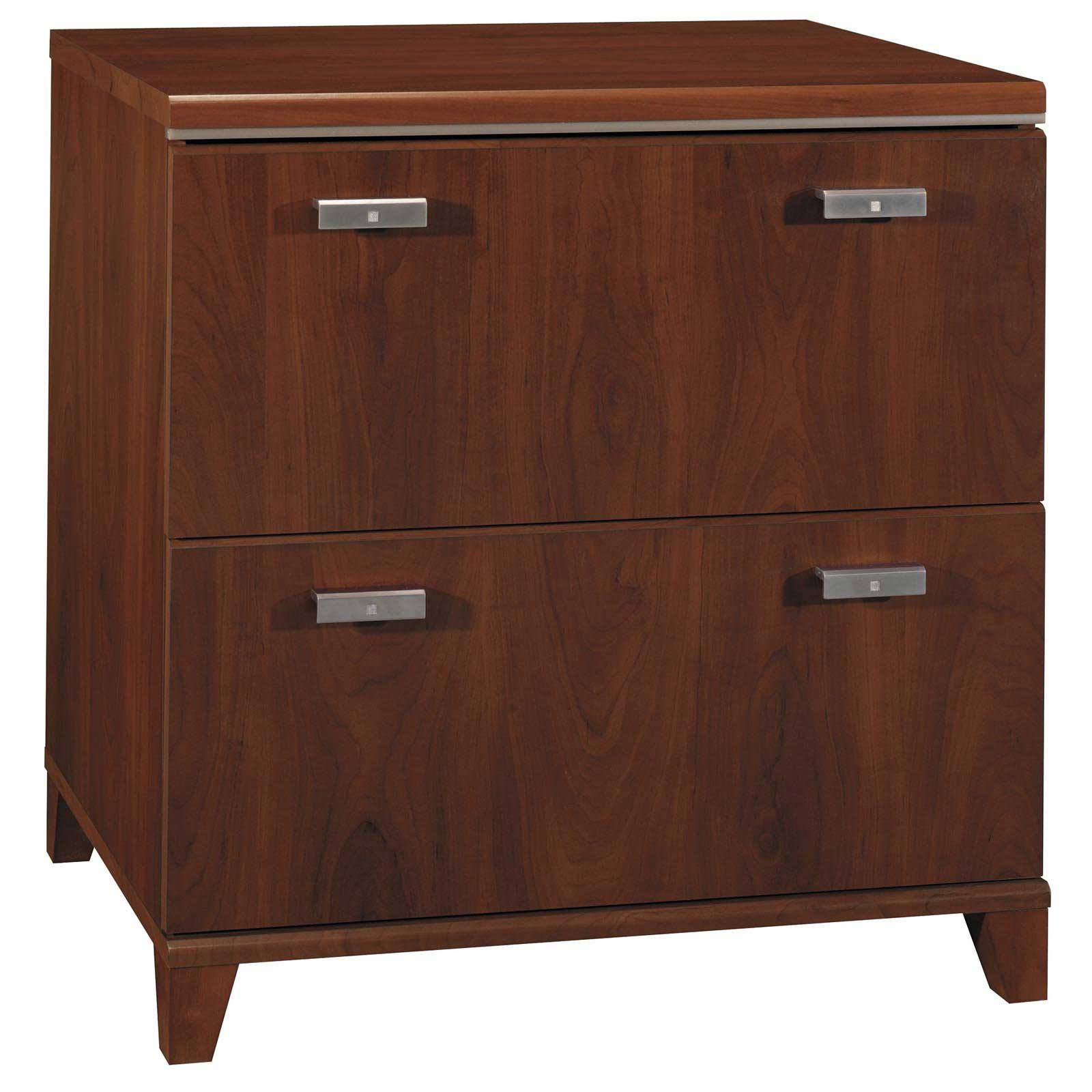Bush Tuxedo Solid Cherry Lateral File Cabinet 2 Drawer
