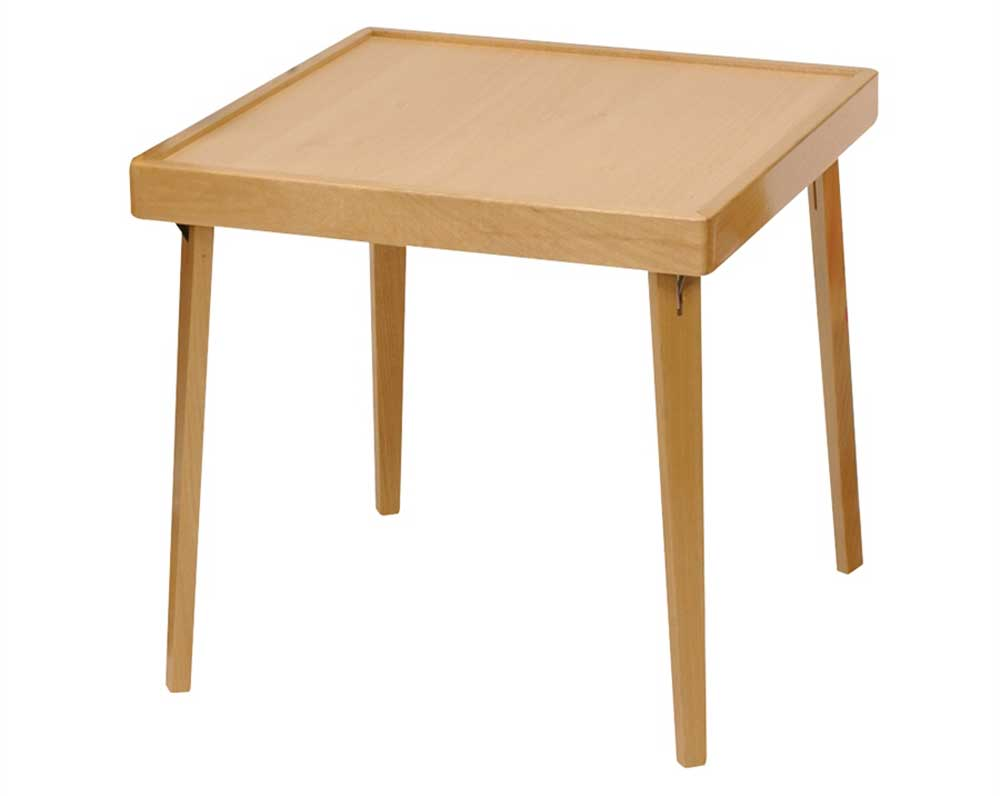 Childrens Natural Finish Wood Folding Table
