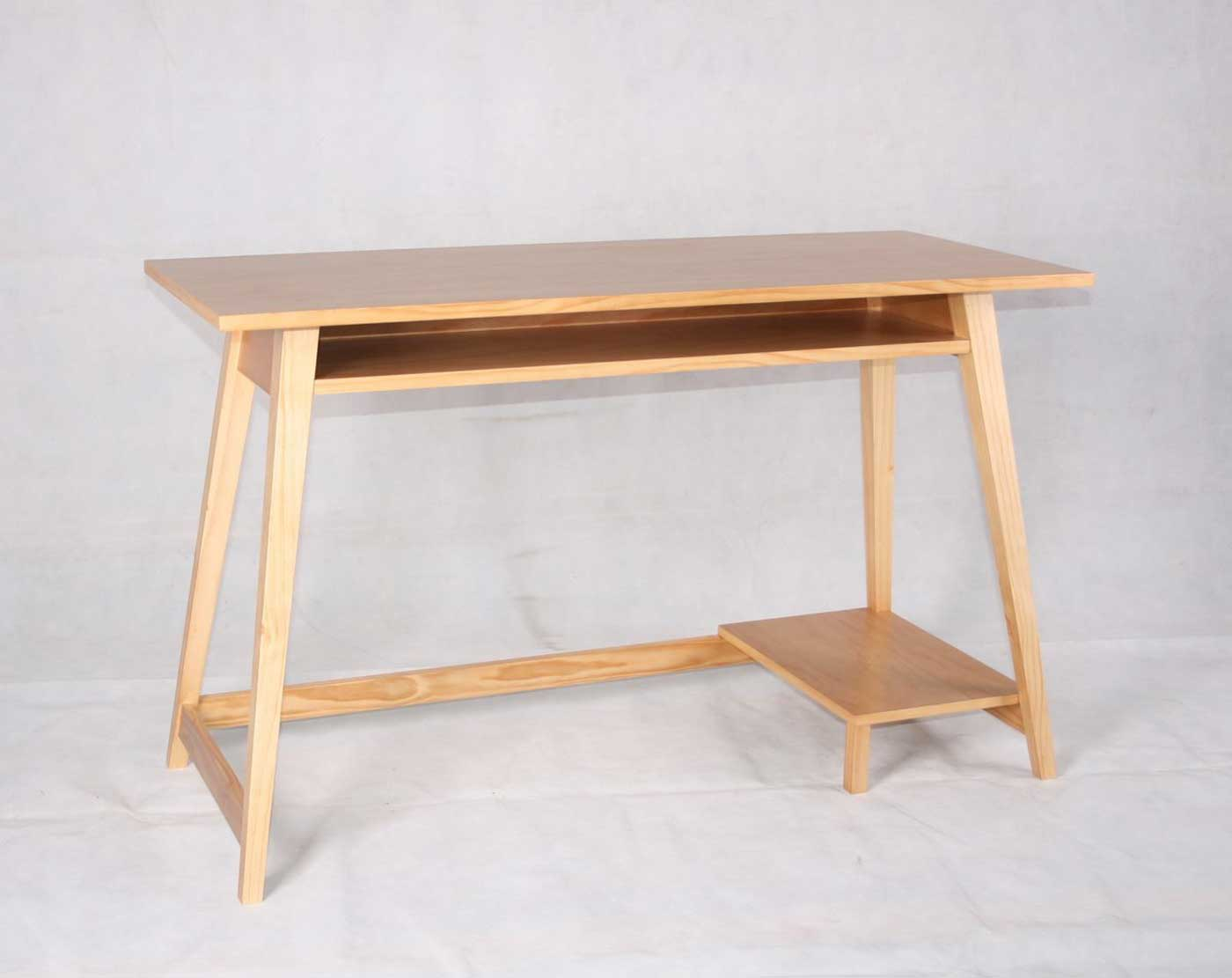 Compact and Simple wooden computer table