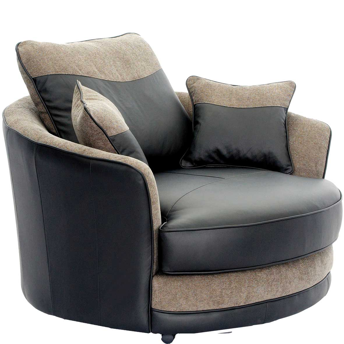 Constellation dark brown swivel tub chair