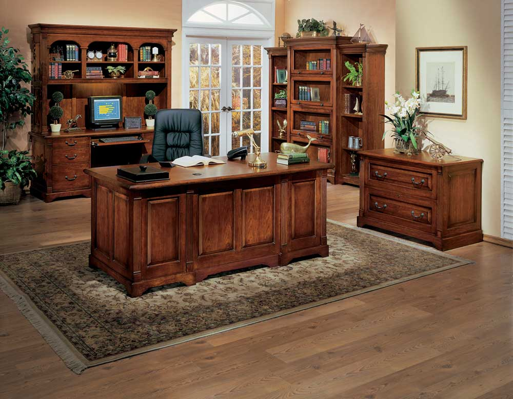 Country Cherry Modular Executive Home Office Collections