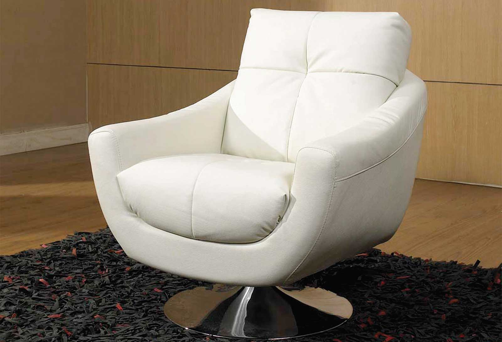 Danae Modern Stylish White Leather Chairs