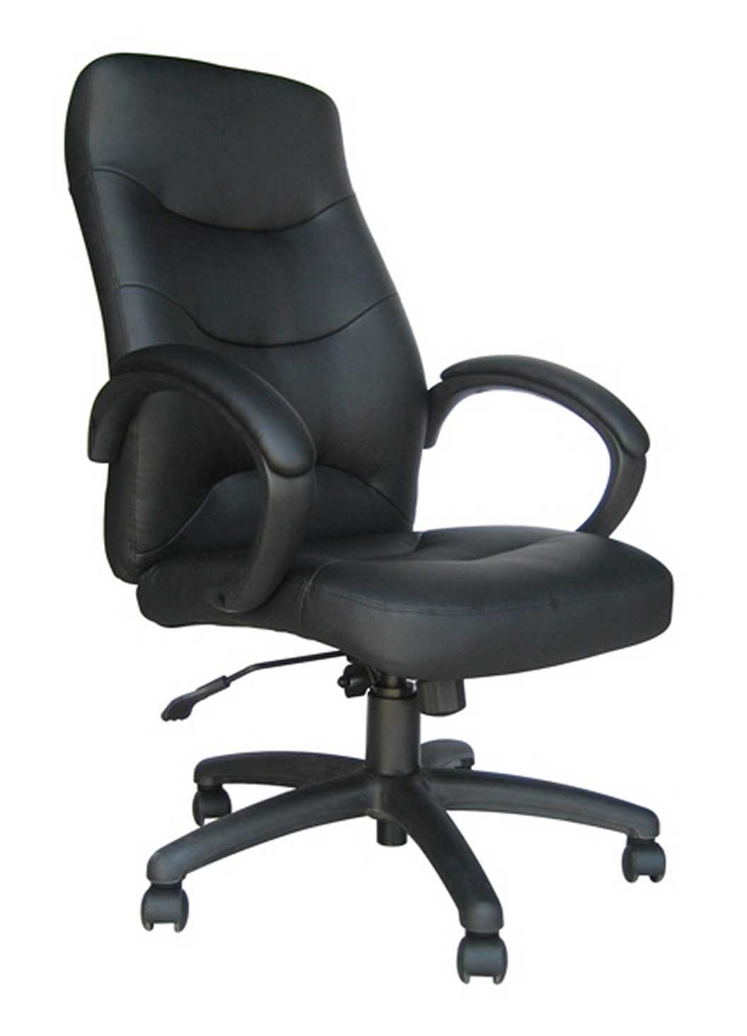 Ergonomic Black leather office chairs