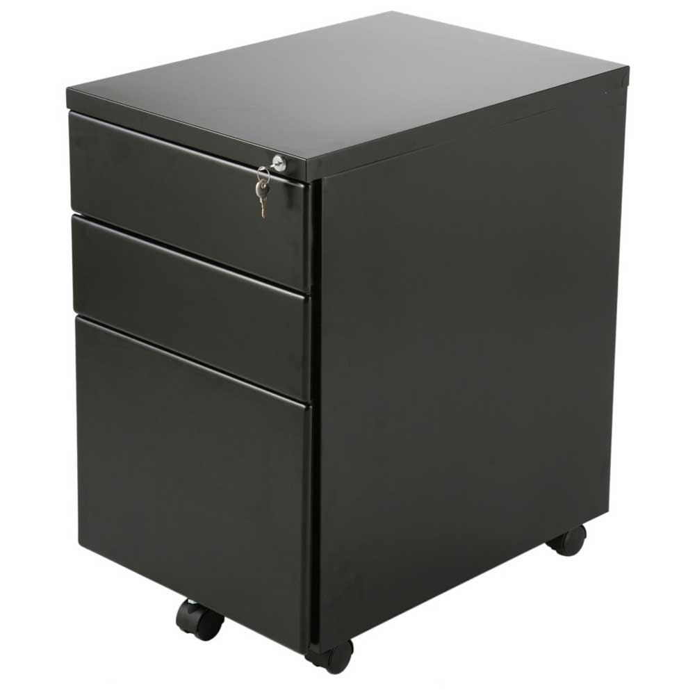 Eurostyle Greg Graphite Locking Metal File Cabinet