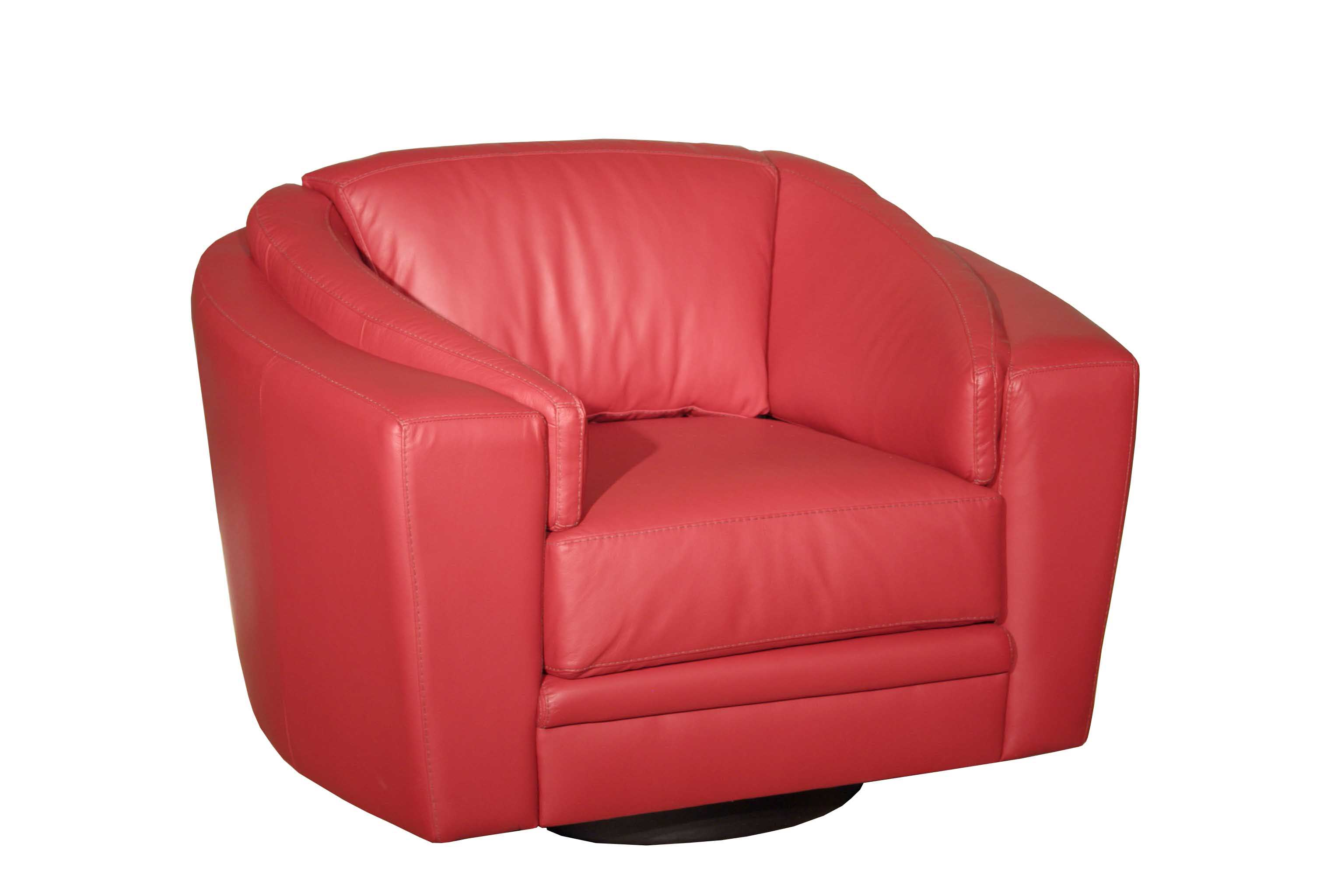 Fiona Swivel Chair from Red Leather