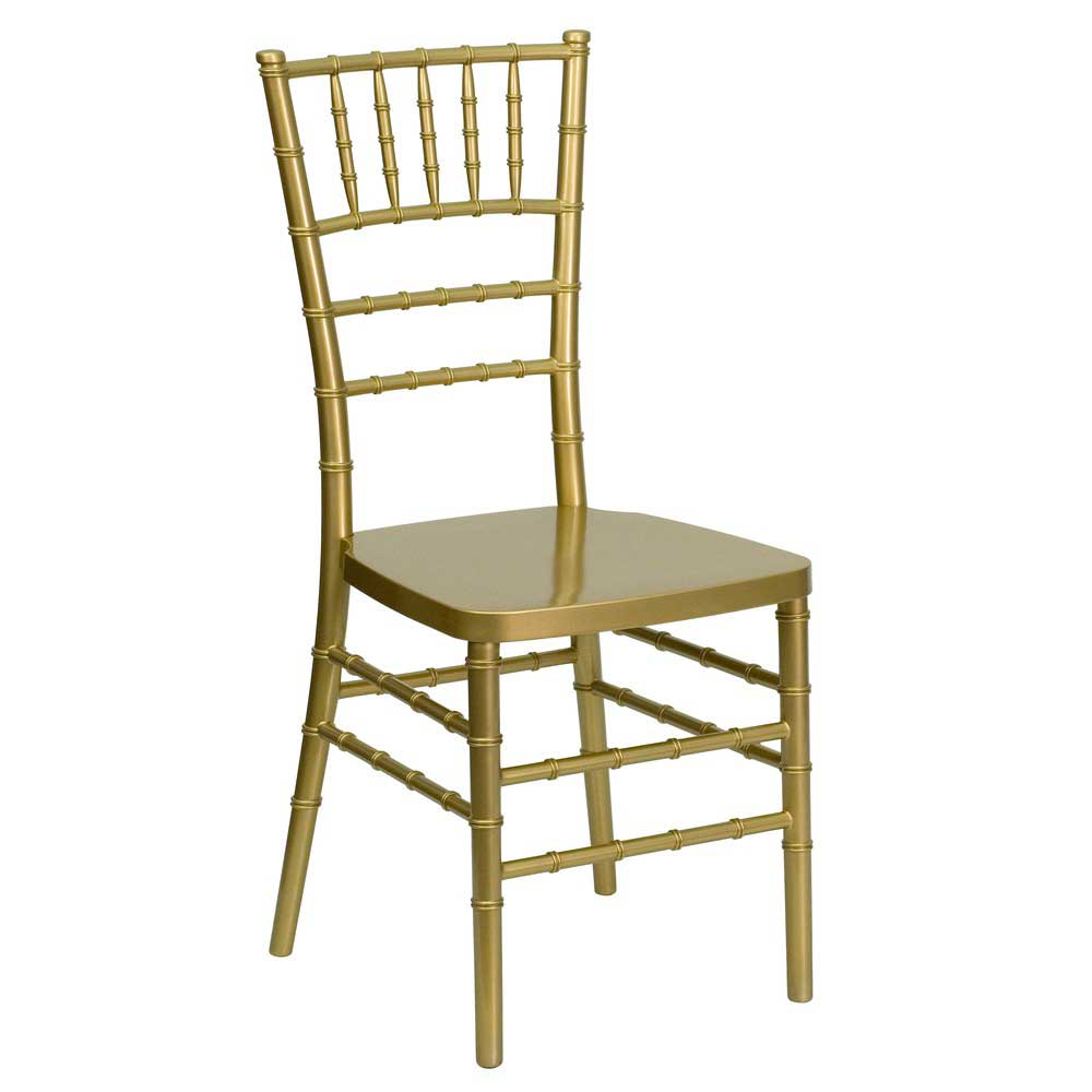 Flash Elegance Chiavari Resin Stackable Chairs Gold