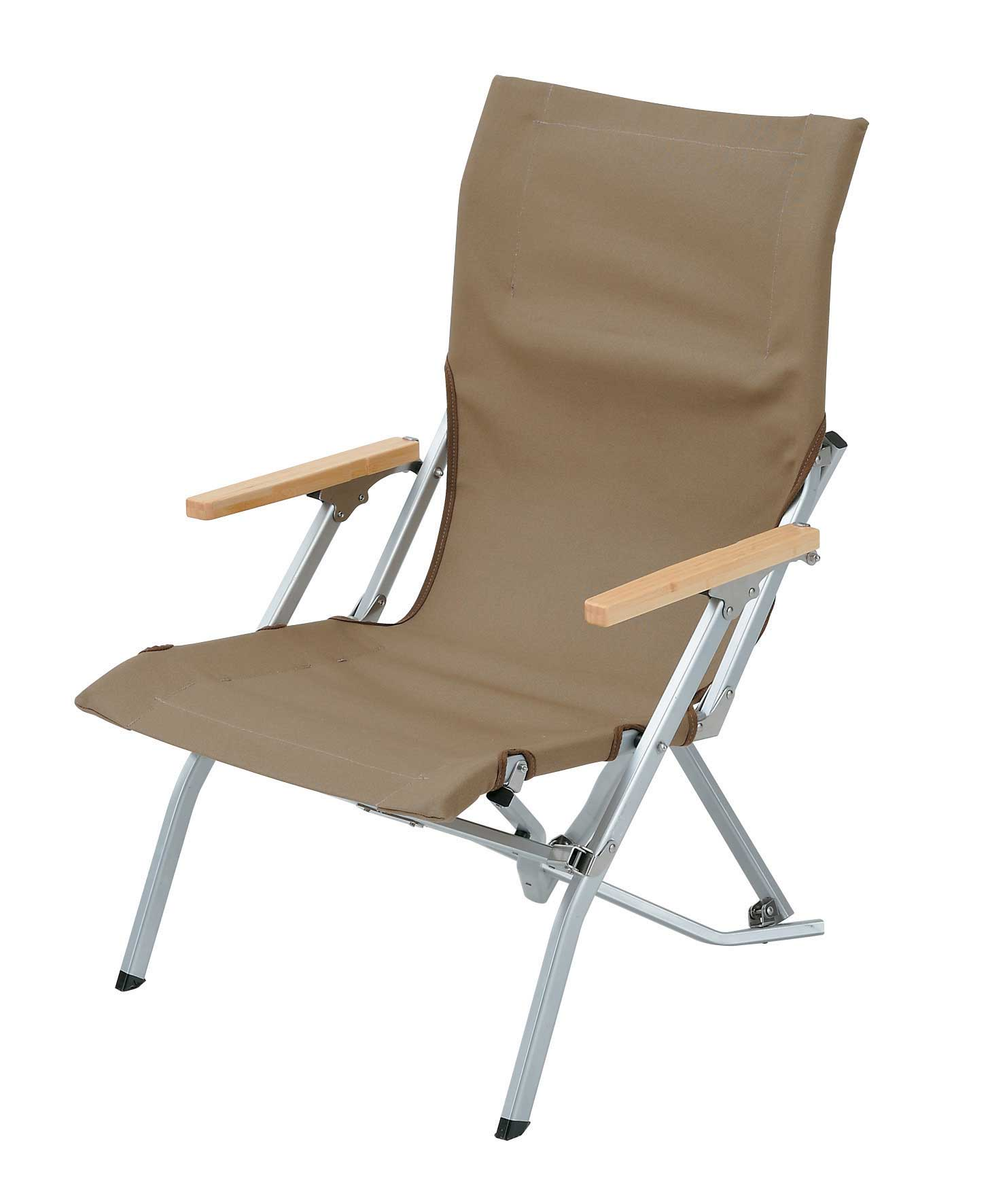 Foldable canvas chair with armrest