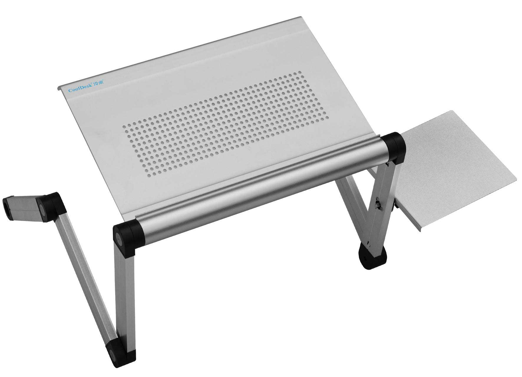 Folding aluminum portable Laptop Stand and mouse pad
