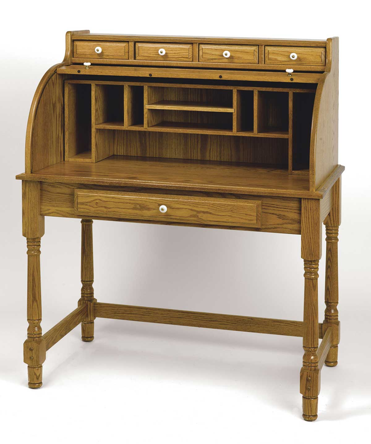 Functional Home Office Roll Top Desk