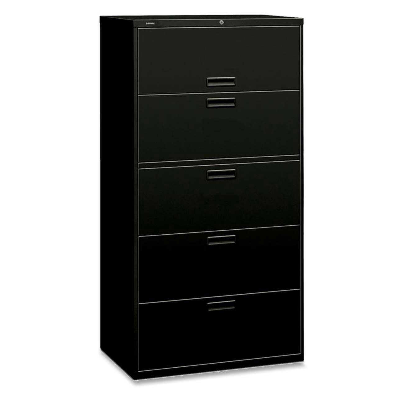 HON 500 Series Black Lateral File Cabinet